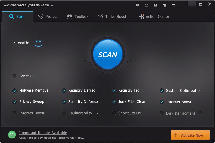 Advanced SystemCare 8 Pro 2019 Crack and Serial key Full Download