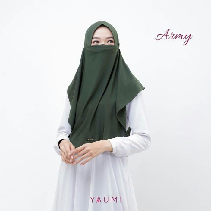 Yaumi Hijab Khimar Almira Army