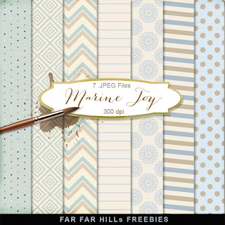 New Freebies Kit of Backgrounds - Marine Joy