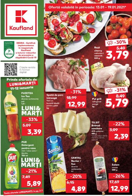 Kaufland Promotii + Catalog-Brosura 13-19.01 2021 →  Pana la -50% Oferte Kaufland Card
