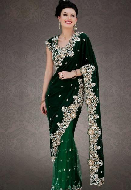 Latest Indian And Pakistani Sarees Designs Apni Fankari