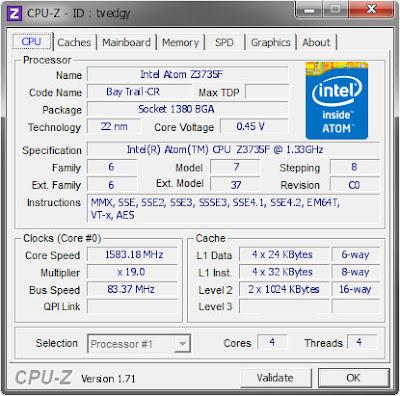 cpuz intel atom z3735f