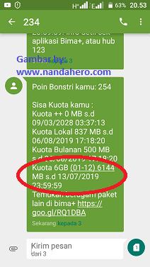 cara mendapatkan kuota gratis 3 6gb android