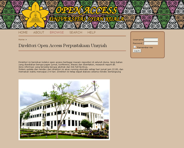 Direktori Open Access Perpustakaan Unsyiah