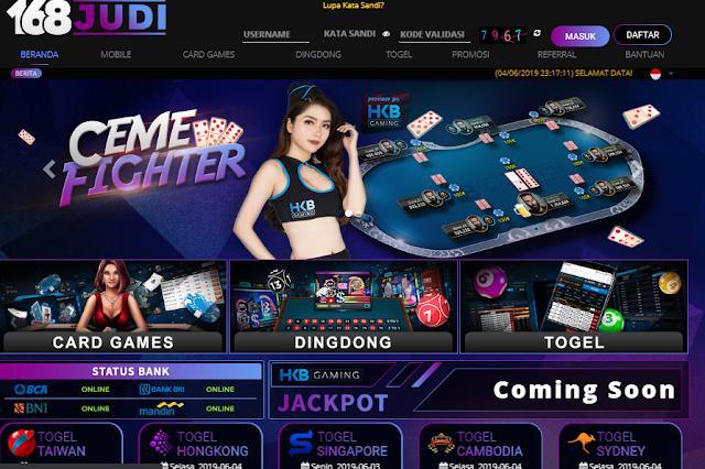 168Judi Game Judi Poker,AduQ Dan Dindong Online Terpercaya Di Indonesia