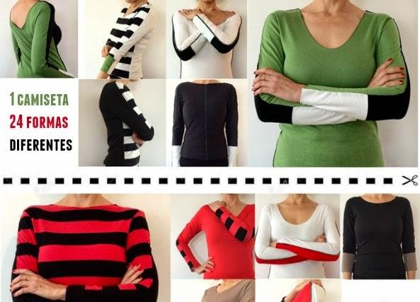 camisetas, 24 camisetas en una, bricomoda, moda, invento, refashion, tiendas