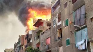 مصرع 3 إثر حريق بقرية الخزان مركز طامية بالفيوم