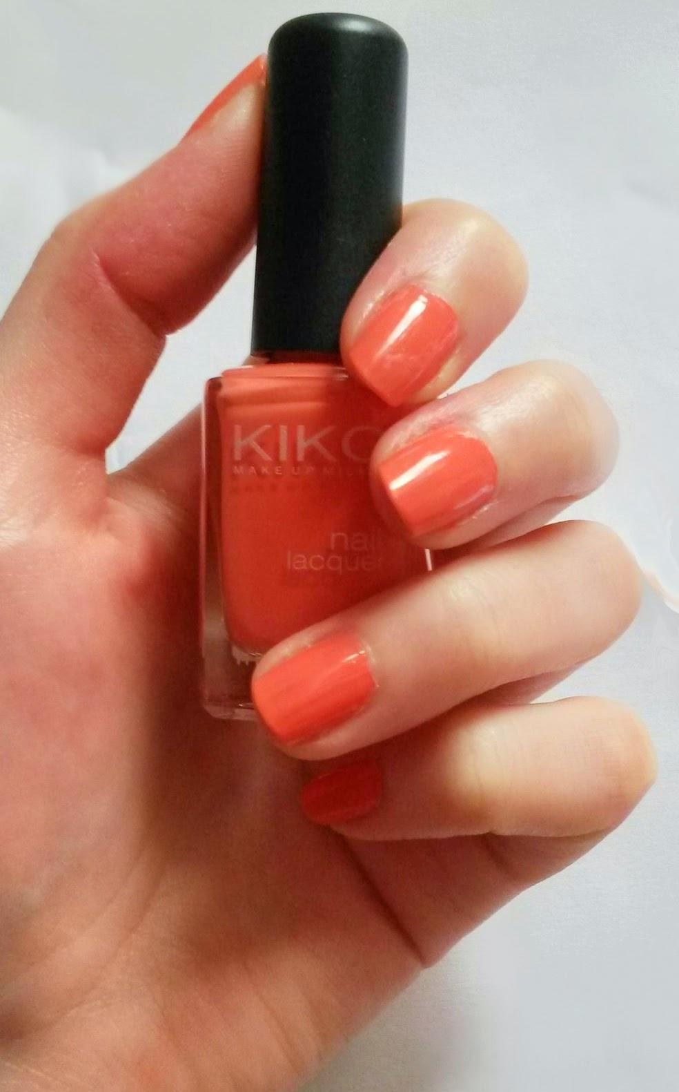 Favoris été 2014 beauté vernis kiko peach rose 358