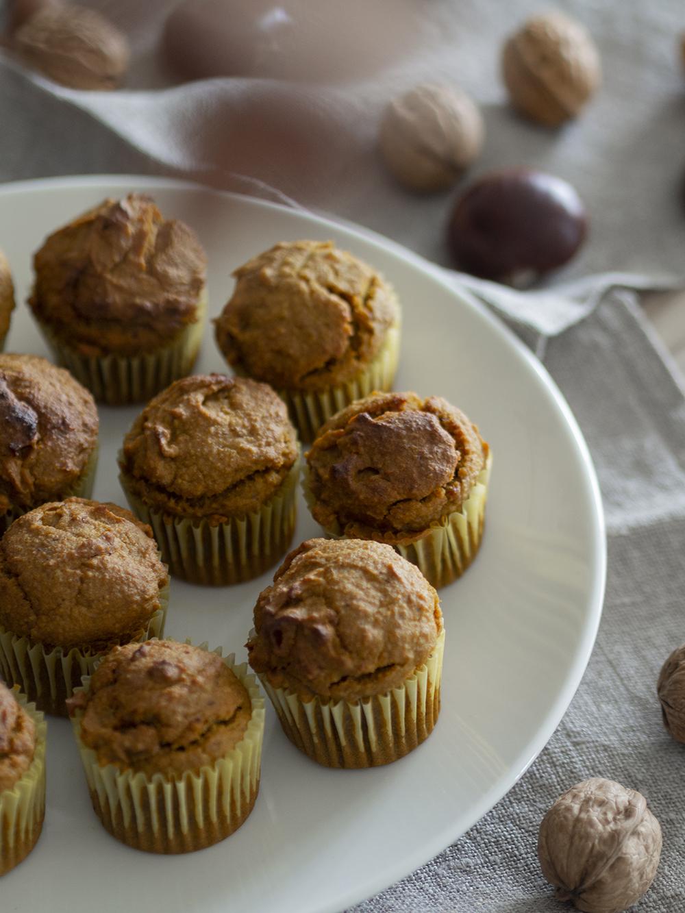 Muffins veganos de calabaza y avena_2