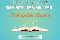 HASIL UN SMA/MA Kabupaten Sleman Tahun 2015 – 2017 Jurusan IPA
