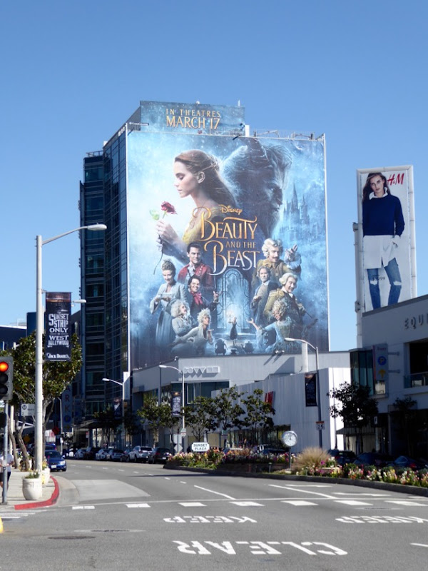 Disney Beauty and the Beast movie billboard Sunset Strip