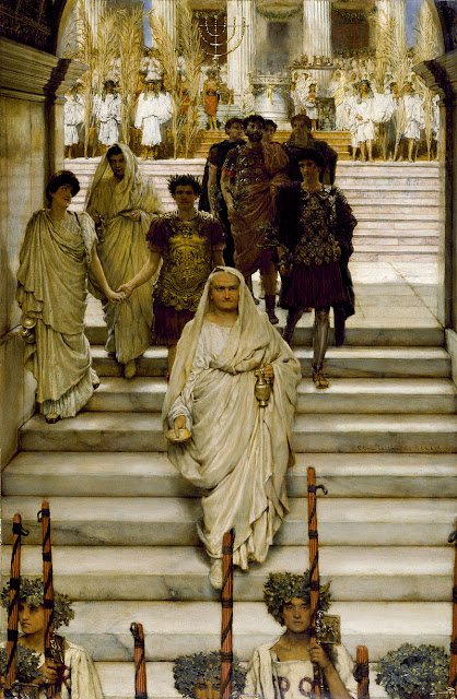 "Sir Lawrence Alma-Tadema (1836 - 1812): ""The Triumph of Titus"" (1885)"