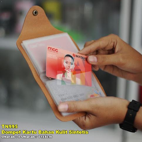 Dompet Kartu Bahan Kulit Sintetis