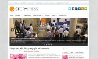 StoryPress Blogger Template