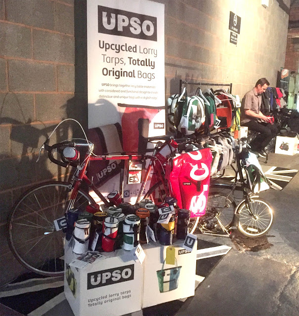 Photograph of UPSO bags on the stand at SPIN Manchester