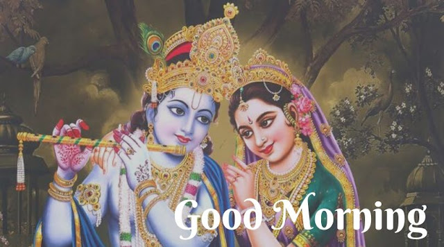 radhe krishna good morning pic