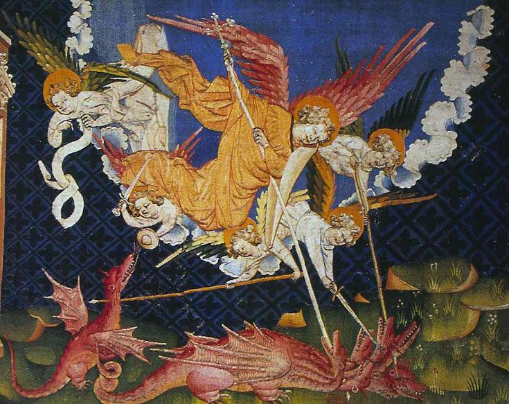 A queda de Babilônia. Tapeçaria do Apocalipse, Angers