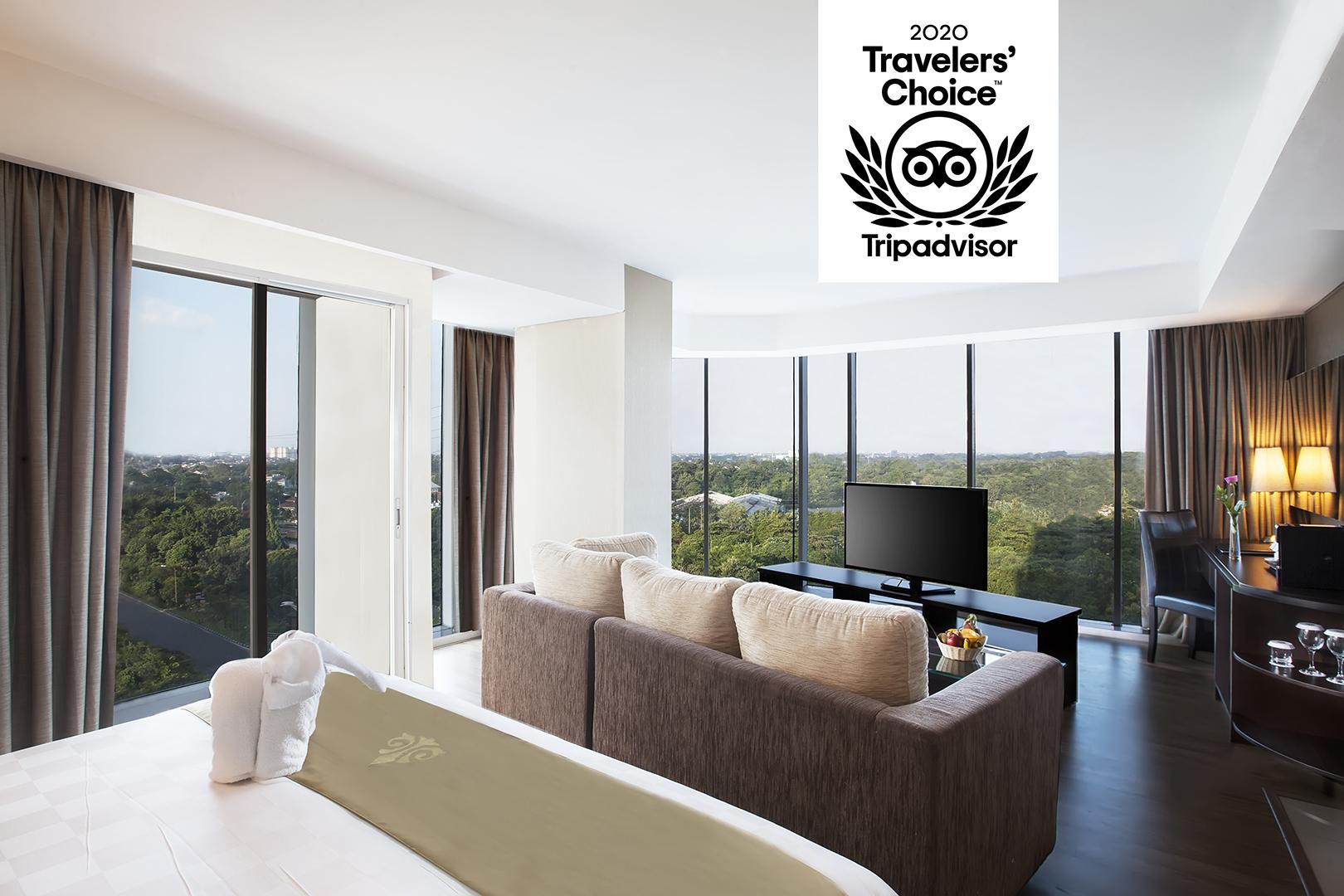 Best Western Premier The Hive dapat penghargaan Traveler's Choice 2020