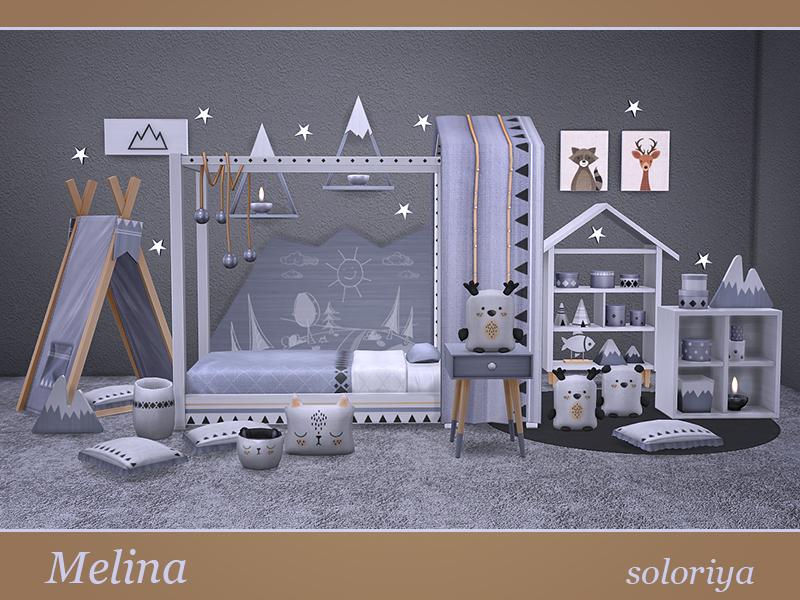 soloriya: Melina, toddlers room. Sims 4
