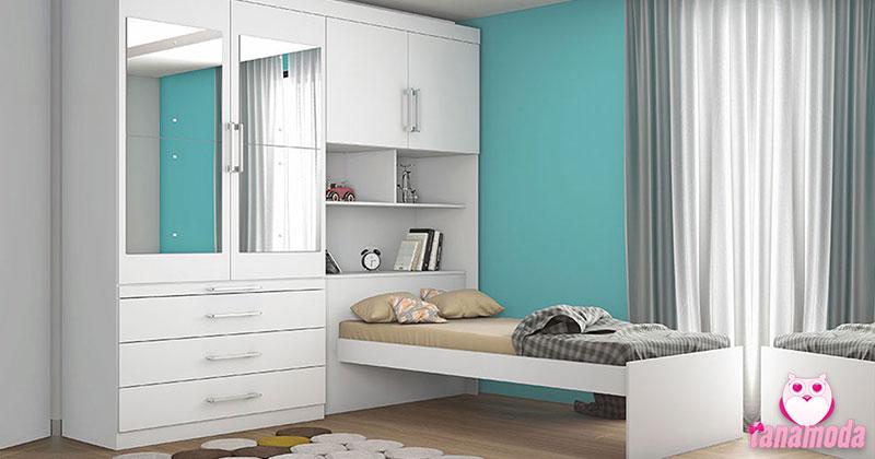 Ideias de guarda-roupas para quarto pequeno