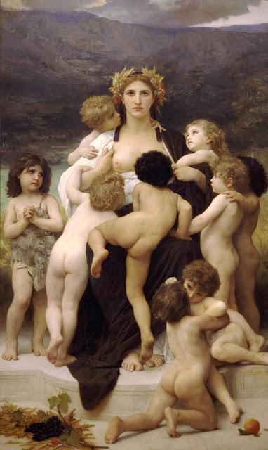 Адольф Вильям Бугро - Родина-мать (1883)