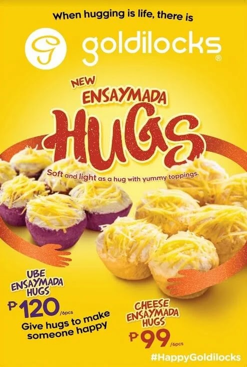 Goldilocks Introduces The Perfect Hug! The All-New Cheese Ensaymada and Ube Cheese Ensaymada Hugs!
