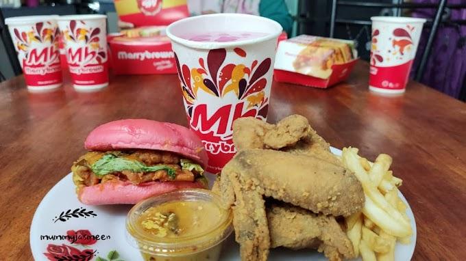 Burger Pink Marryborwn  :  Egg- Stra Ong Meal