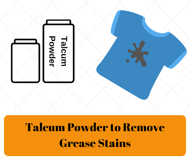 How to get grease stains out of clothes - Talcum Powder