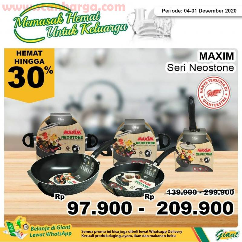 Giant Promo harga Spesial Teflon Maxim Seri Neostone - Diskon hemat hingga 30%