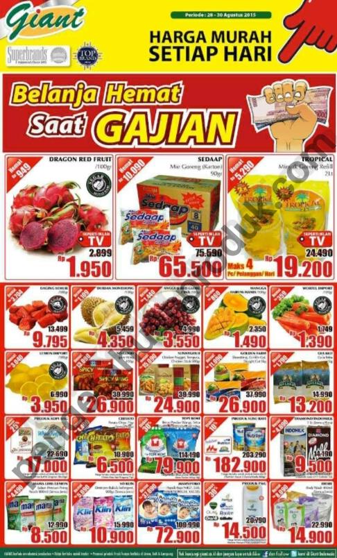 Katalog Giant Promo Weekend 28 - 30 Agustus 2015
