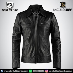 Jual Jaket Kulit Asli Garut Pria Domba Original Brida Leather B29   WA 08813430588