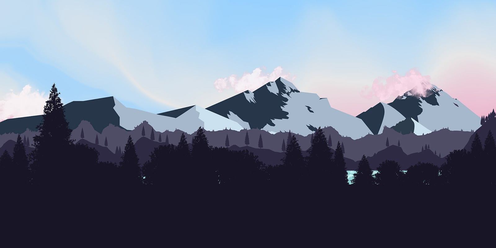 Desktop wallpaper - Minimalist landscape [2160x1920]