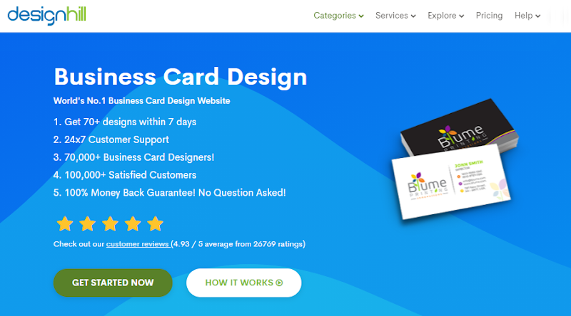 Use Designhill to create your business card online