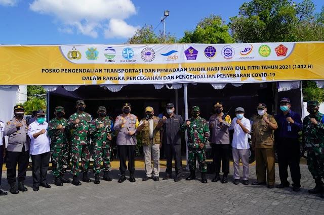 Forkopimda NTB Cek Kesiapan Pos Pengamanan Idul Fitri Di Lombok.