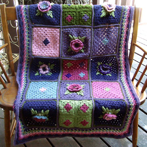 Irish Rose Square - Free Pattern