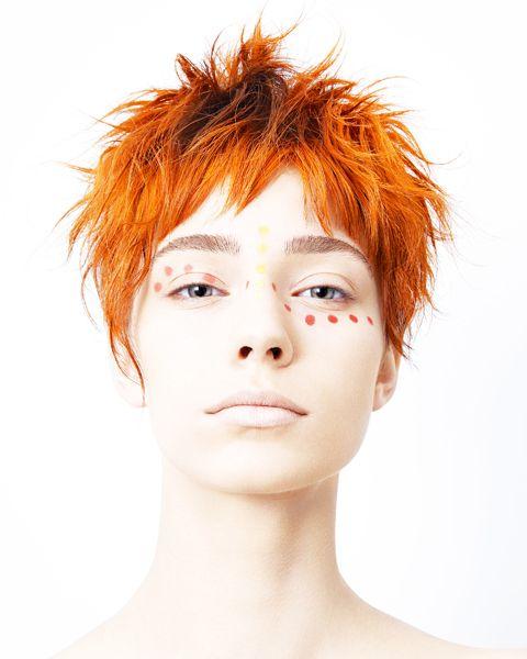 Short Hair In Orange Shades The Haircut Web