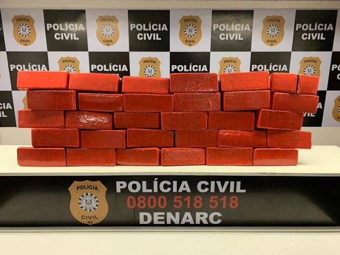 Operação prende homem com 31 tijolos de maconha em Cachoeirinha