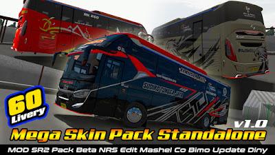 60 Skin Mod Laksana SR2 Pack Beta ETS2 1.36-1.38