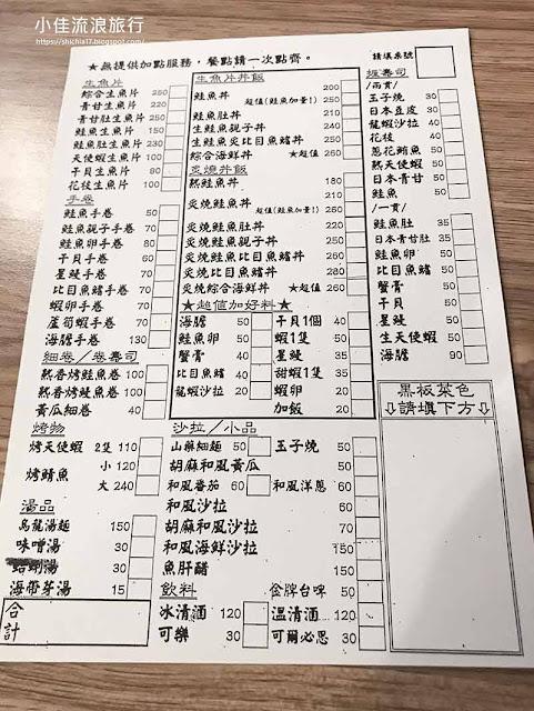 2020千幸壽司菜單