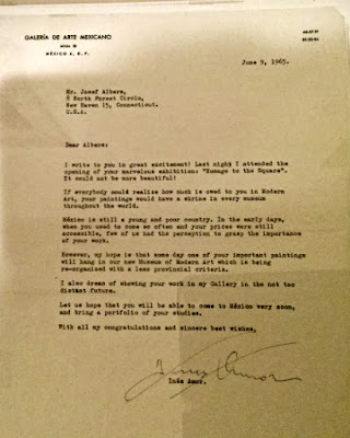 Letter from Inés Amor to Josef Albers - Photo: Cat Bauer