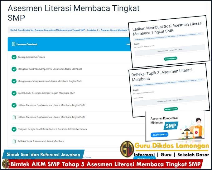 Bimtek Akm Smp Tahap 5 Asesmen Literasi Membaca Tingkat Smp Simak Soal Dan Referensi Jawaban