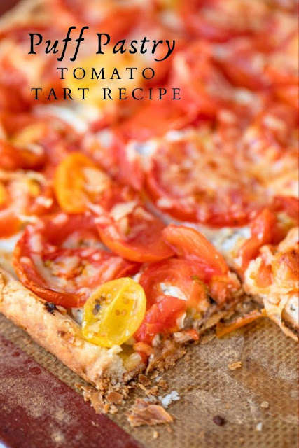 Puff Pastry Tomato Tart Recipe #Puff #Pastry #Tomato #Tart #Recipe Healthy Dessert Recipes, Healthy Dessert Recipes Under 100 calories