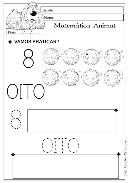 Apostila com atividades de matemática para imprimir