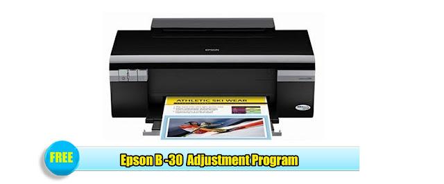 Epson B -30  Adjustment Program