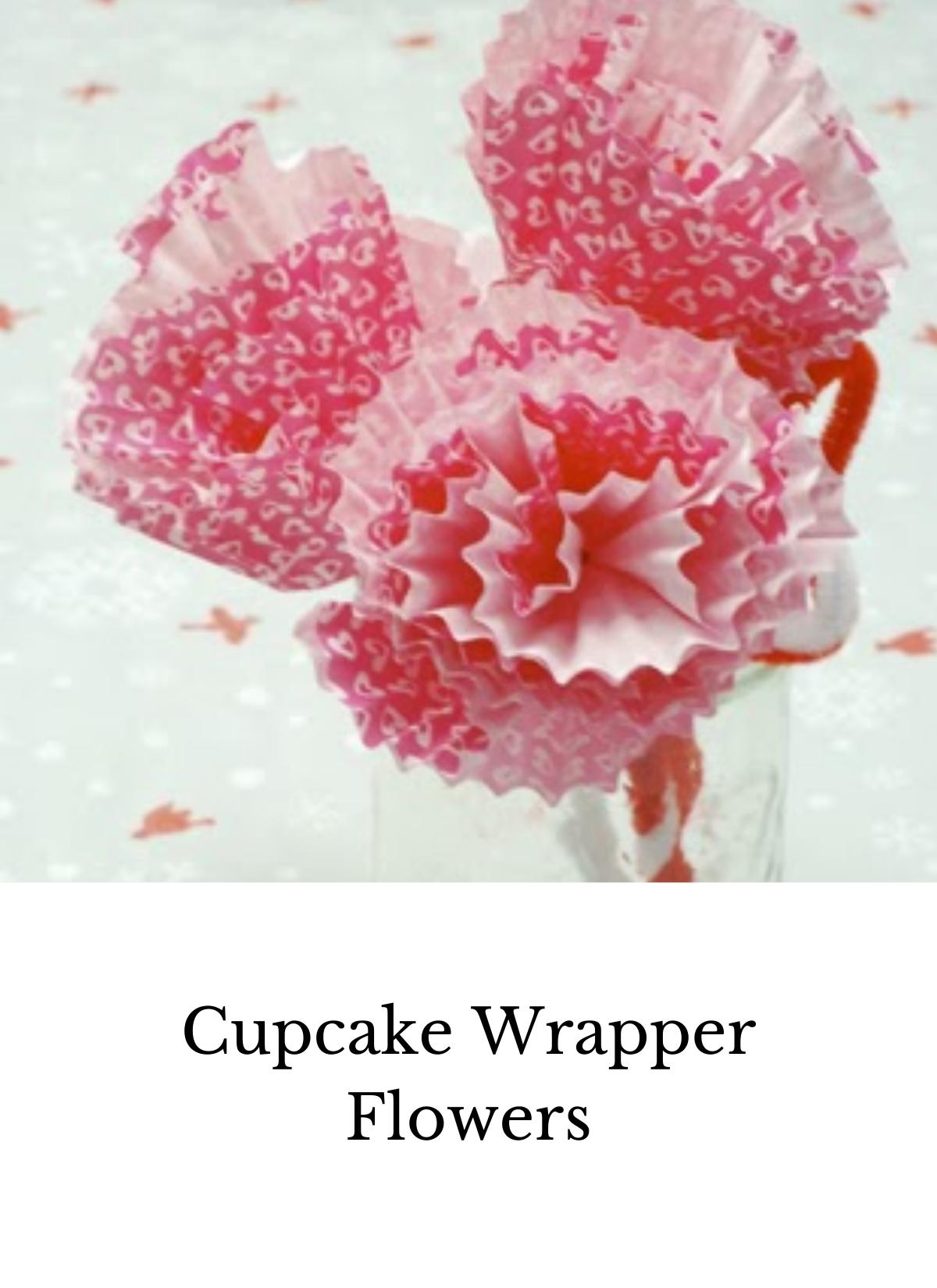 cupcake wrapper flower