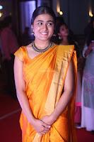 Shalini Pandey in Beautiful Orange Saree Sleeveless Blouse Choli ~  Exclusive Celebrities Galleries 051.JPG