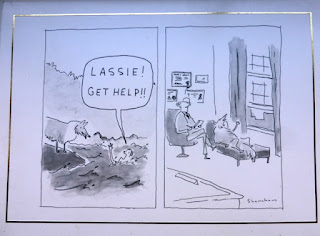 Lassie get help cartoon from the New Yorker