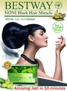 Cat Rambut Alami Bestway Noni Black Hair Miracle