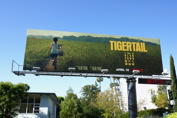 Tigertail Netflix film billboard