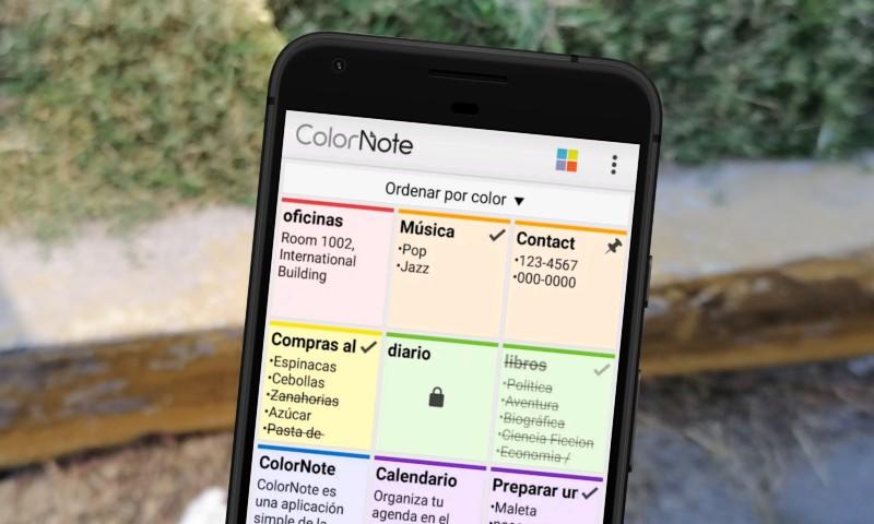 ColorNote - Guarda notas y eventos en Android y sincronízalos en la nube